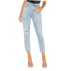 AGOLDE JAMIE HIGH RISE JEANS
